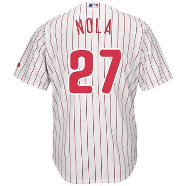 67fc791b Majestic Men's Philadelphia Phillies Aaron Nola #27 Cool Base ...