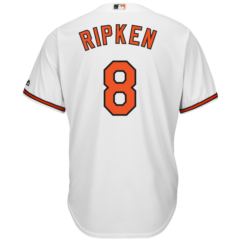 uk availability 14595 b09a8 Majestic Men's Baltimore Orioles Cal Ripken Jr. #8 Cool Base Replica Jersey