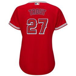 Majestic Women's Los Angeles Angels of Anaheim Mike Trout #27 Cool Base® Replica Alternate Jersey