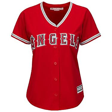 separation shoes eea54 a79ee Majestic Women's Los Angeles Angels of Anaheim Mike Trout #27 Cool Base®  Replica Alternate Jersey