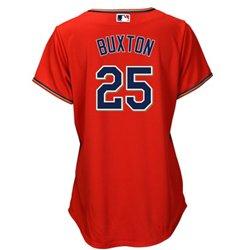 Majestic Women's Minnesota Twins Byron Buxton #25 Cool Base® Replica Alternate Jersey