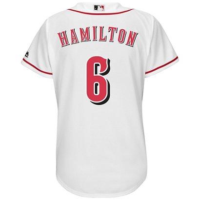 Majestic Women s Cincinnati Reds Billy Hamilton  6 Cool Base Replica ... 5ef1ee0be