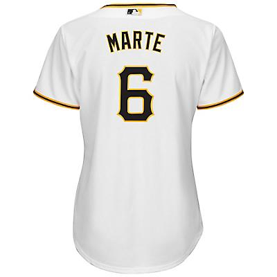2636b5f87 Majestic Women's Pittsburgh Pirates Starling Marte #6 Cool Base® Replica  Home Jersey - view. Hover/Click to enlarge
