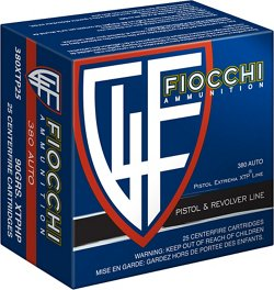 Fiocchi .380 ACP 90-Grain XTP Hollow Point Centerfire Pistol Ammunition