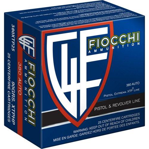 Fiocchi .380 ACP 90-Grain XTP Hollow Point Centerfire Pistol Ammunition