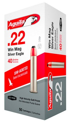 Aguila Ammunition .22 Winchester Magnum Rimfire 40-Grain Jacketed Soft-Point Rimfire Ammunition