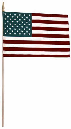 "Independence Flag 12"" x 18"" Handheld American Flag"