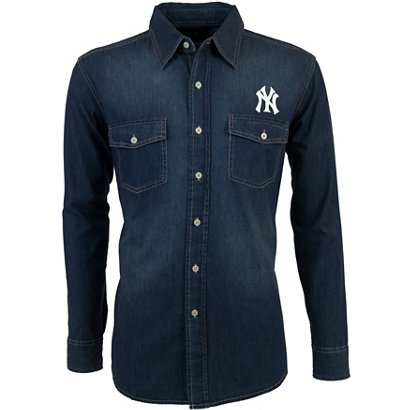 ... Long Sleeve Button Down Chambray Shirt. New York Yankees Clothing.  Hover Click to enlarge 2aba7524074c
