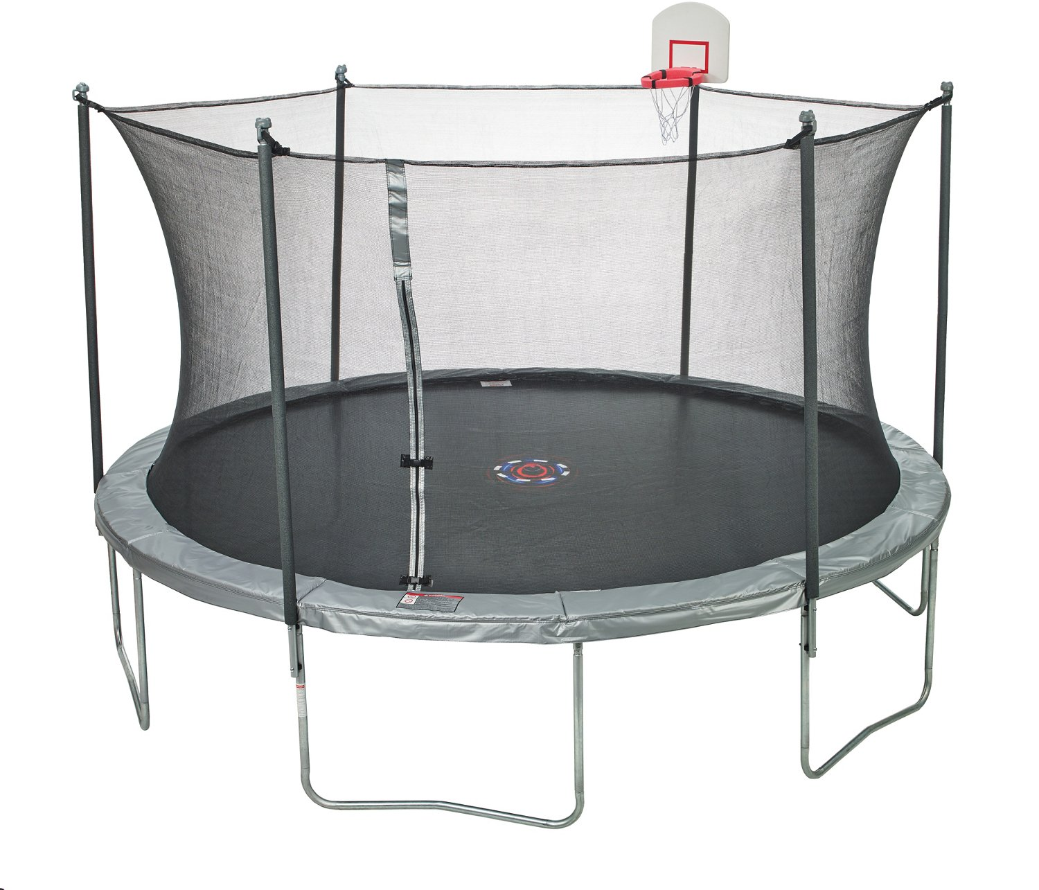 Jump Zone 15 Ft Trampoline With Dunkzone Basketball Hoop Amp Spinner Flash Litezone Academy