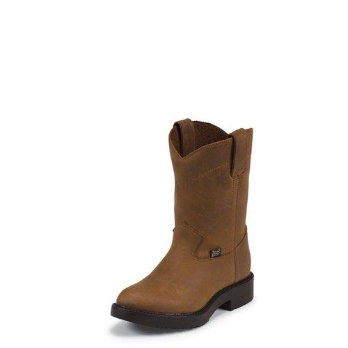 Justin Boys' Aged Bark Work Boots