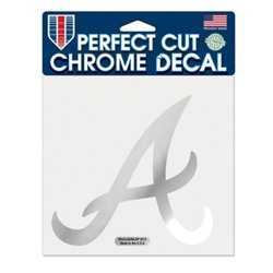 WinCraft Atlanta Braves Chrome Perfect Cut Decal