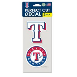 Texas Rangers Perfect Cut Decals 2-Pack