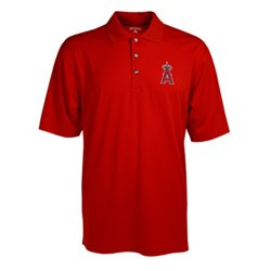 Antigua Men's Los Angeles Angels of Anaheim Phoenix Pointelle Polo Shirt