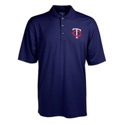 Antigua Men's Minnesota Twins Phoenix Pointelle Polo Shirt