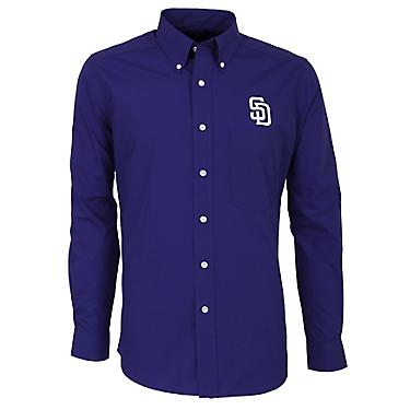 promo code c3cd2 17f45 Antigua Men's San Diego Padres Dynasty Long Sleeve Button Down Shirt