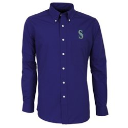 Men's Seattle Mariners Dynasty Long Sleeve Button Down Shirt