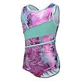 Capezio Girls' Future Star Printed Leotard with Front Strapping
