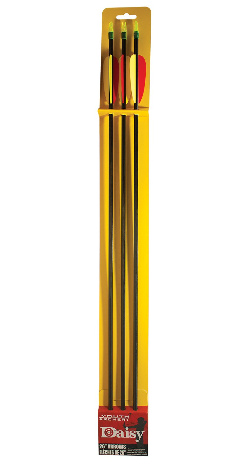 """Daisy 26"""" Youth Target Arrows 3-Pack Black - Archery, Arrows Tips And Accessories at Academy Sports thumbnail"""