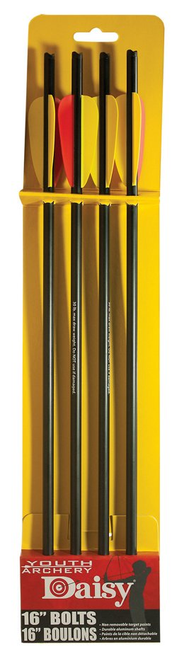 "Daisy® 16"" Crossbow Bolts 4-Pack"