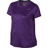 Nike Women's Miler Printed Short Sleeve Plus Size Shirt