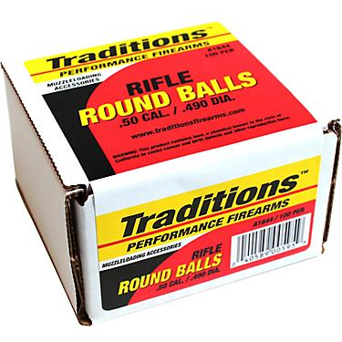 Traditions  50 177-Grain Rifle Lead Round Balls 100-Pack
