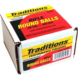 .50 177-Grain Rifle Lead Round Balls 100-Pack