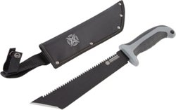 Tactical Performance 10 in Tanto Machete with Serrated Saw Back