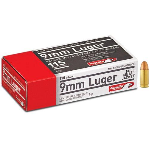 Aguila Ammunition 9mm Luger 115-Grain Centerfire Ammunition