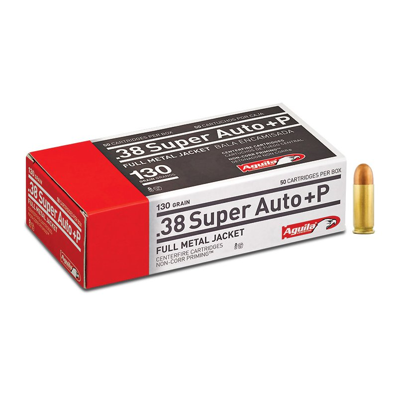 Aguila Ammunition .38 Super Auto+P 130-Grain Centerfire Ammunition – Pistol Shells at Academy Sports