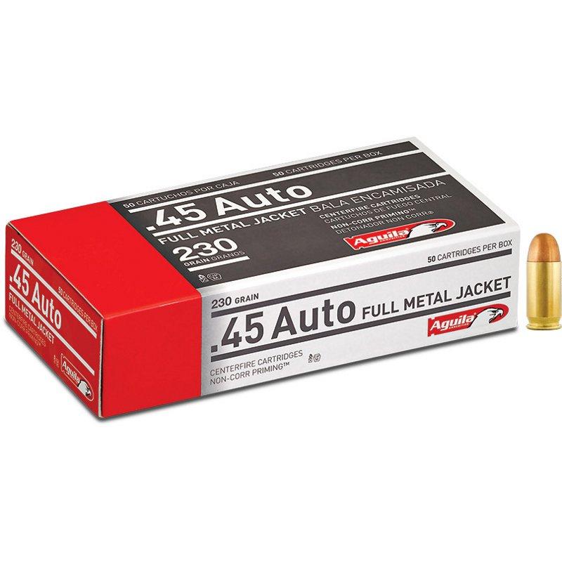 Aguila Ammunition .45 Auto 230-Grain Centerfire Ammunition – Pistol Shells at Academy Sports