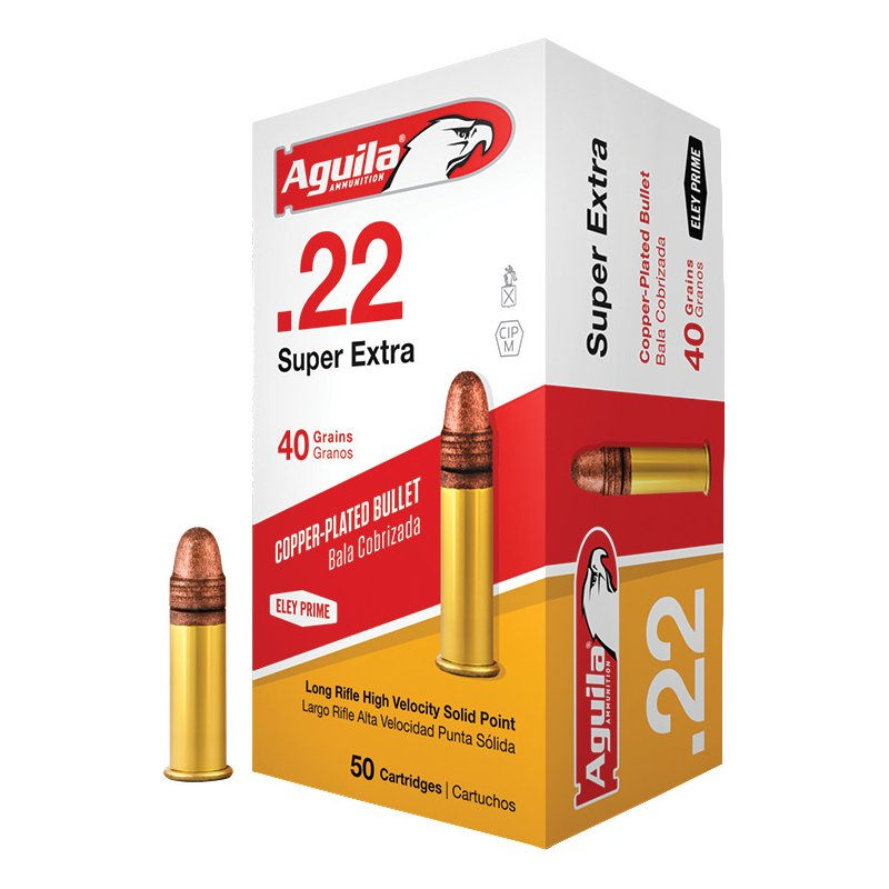 Aguila Ammunition LR High Velocity .22 40-Grain Rimfire Ammunition - Rimfire Shells at Academy Sports thumbnail
