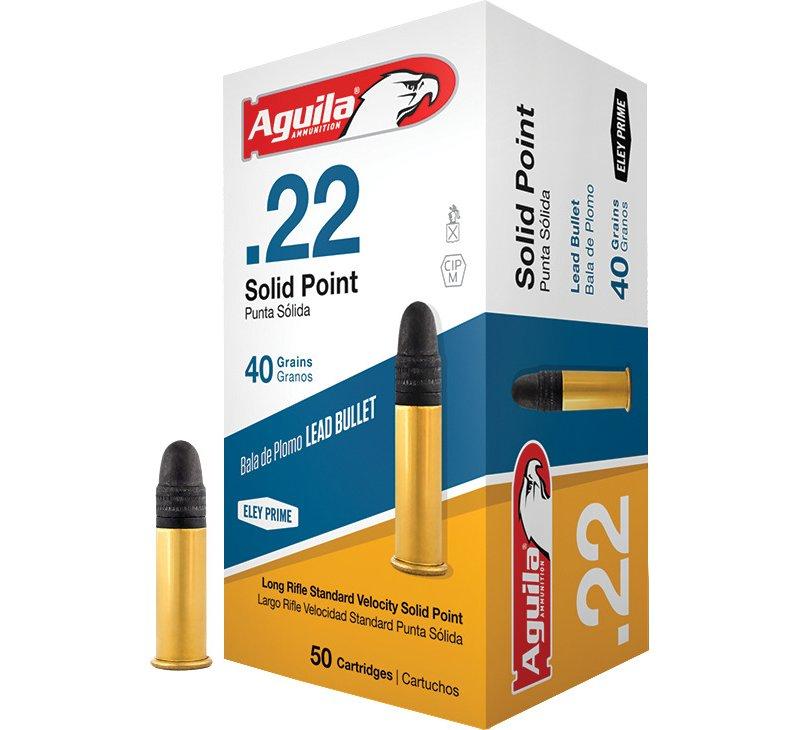 Aguila Ammunition LR Standard Velocity .22 40-Grain Rimfire Ammunition 000 - Rimfire Shells at Academy Sports thumbnail
