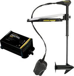 Minn Kota Edge 55 Freshwater Bow-Mount Foot-Control Trolling Motor with Digital Charger