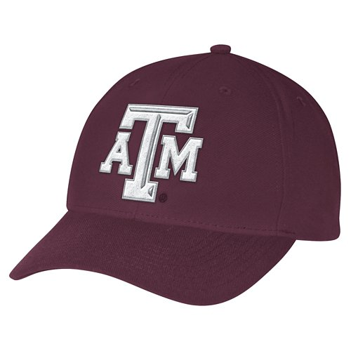 adidas Men's Texas A&M University Structured Adjustable Cap