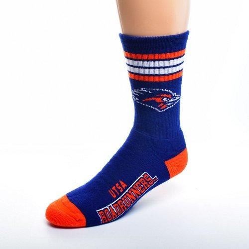 For Bare Feet Adults' University of Texas at San Antonio 4-Stripe Deuce Socks