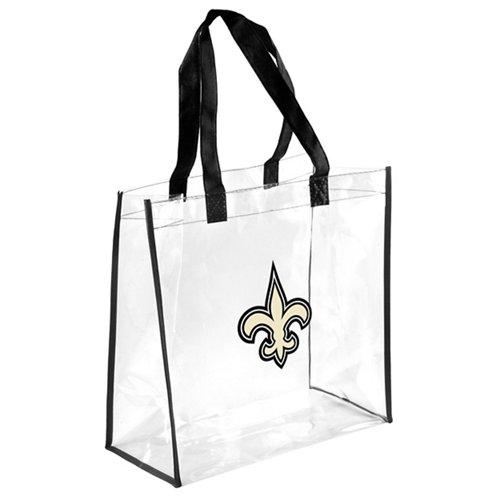 Team Beans New Orleans Saints Clear Reusable Bag