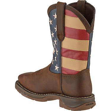 6a070ad2680 Durango Men's Rebel EH Steel Toe Flag Western Wellington Work Boots