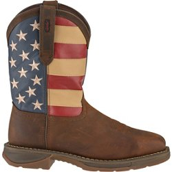 Men's Rebel EH Steel Toe Flag Western Wellington Work Boots
