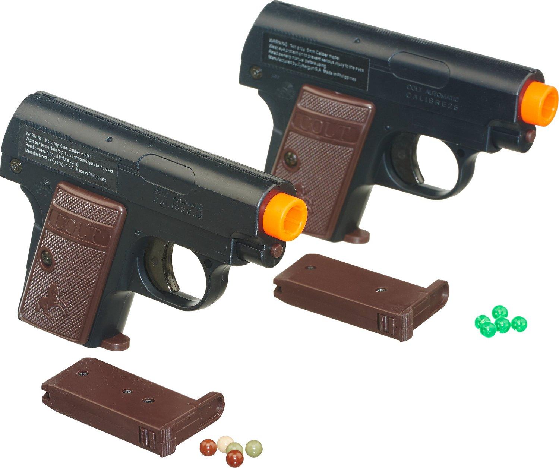 Soft Air USA Colt 25 6mm Caliber Spring Airsoft Pistols 2-Pack