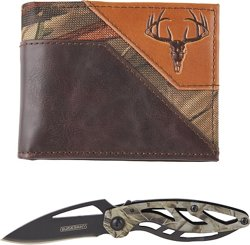 Magellan Outdoors Men's Realtree Trifold Wallet and Multi-tool