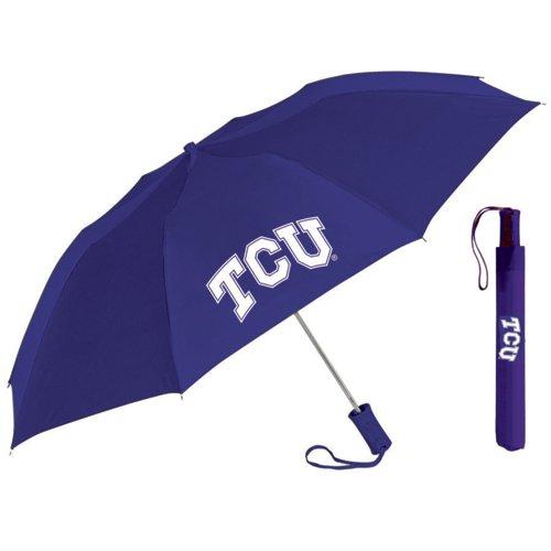 Storm Duds Adults' Texas Christian University 42' Automatic Folding Umbrella