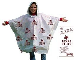 Storm Duds Adults' Texas State University Lightweight Stadium Rain Poncho
