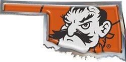Stockdale Oklahoma State University Chrome State Shape Auto Emblem