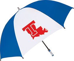 Storm Duds Louisiana Tech University Fiberglass Shaft Golf Umbrella with Color-Coordinated ID Handle