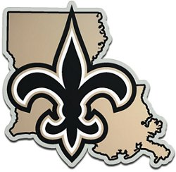 Stockdale New Orleans Saints Acrylic State Shape Auto Emblem