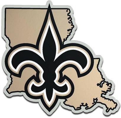 Stockdale New Orleans Saints Acrylic State Shape Auto Emblem Academy