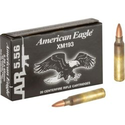 Federal Premium American Eagle FMJ 5.56mm 55-Grain Ammunition