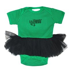 Two Feet Ahead Infant Girls' University of North Texas Pin Dot Tutu Creeper