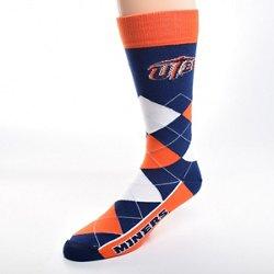 For Bare Feet Unisex University of Texas at El Paso Team Pride Flag Top Dress Socks