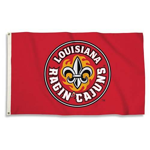 BSI University of Louisiana at Lafayette 3'H x 5'W Flag